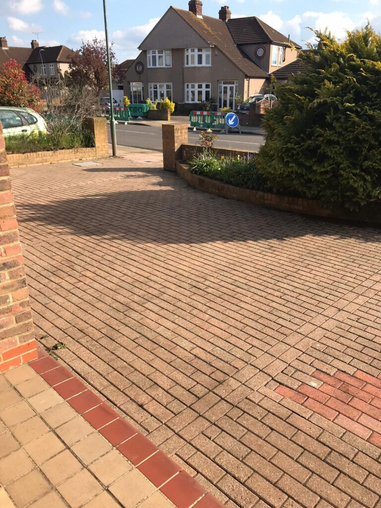After Driveway and Patio Cleaning Services in London