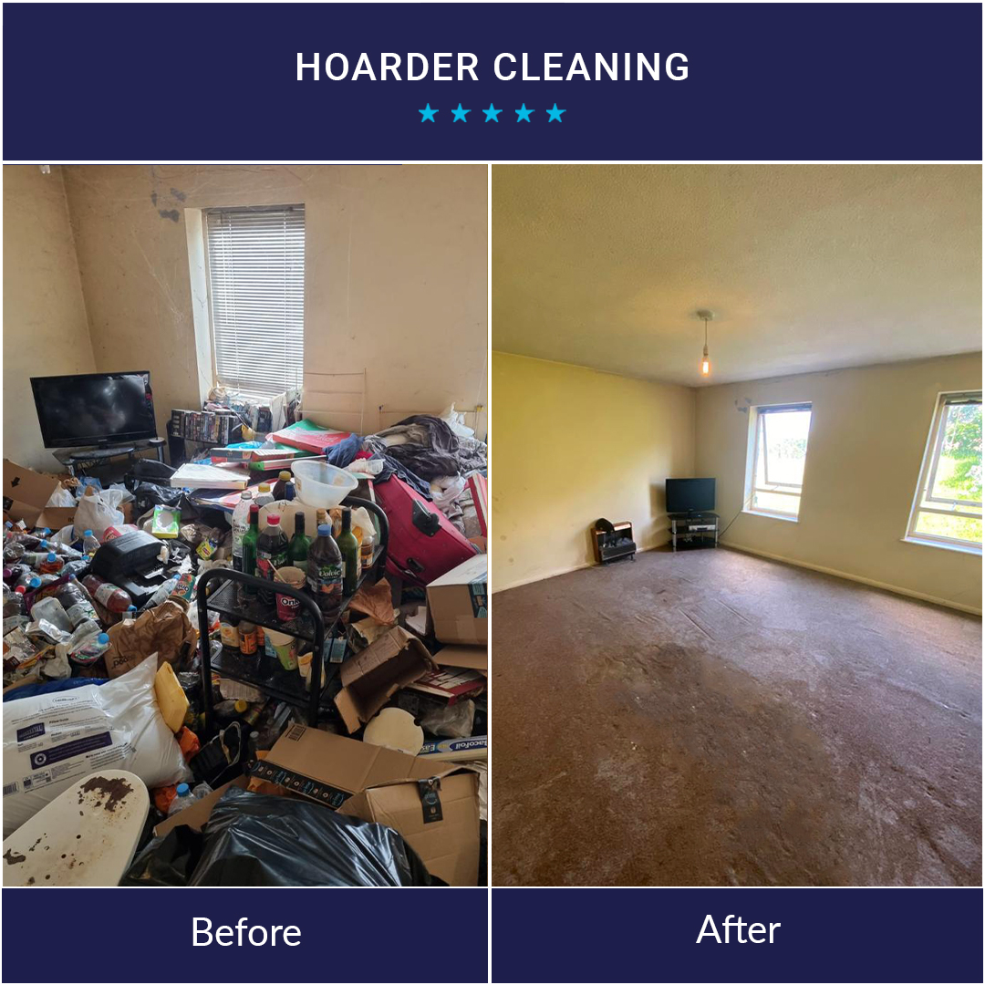 Hoarder Cleaning Before and After